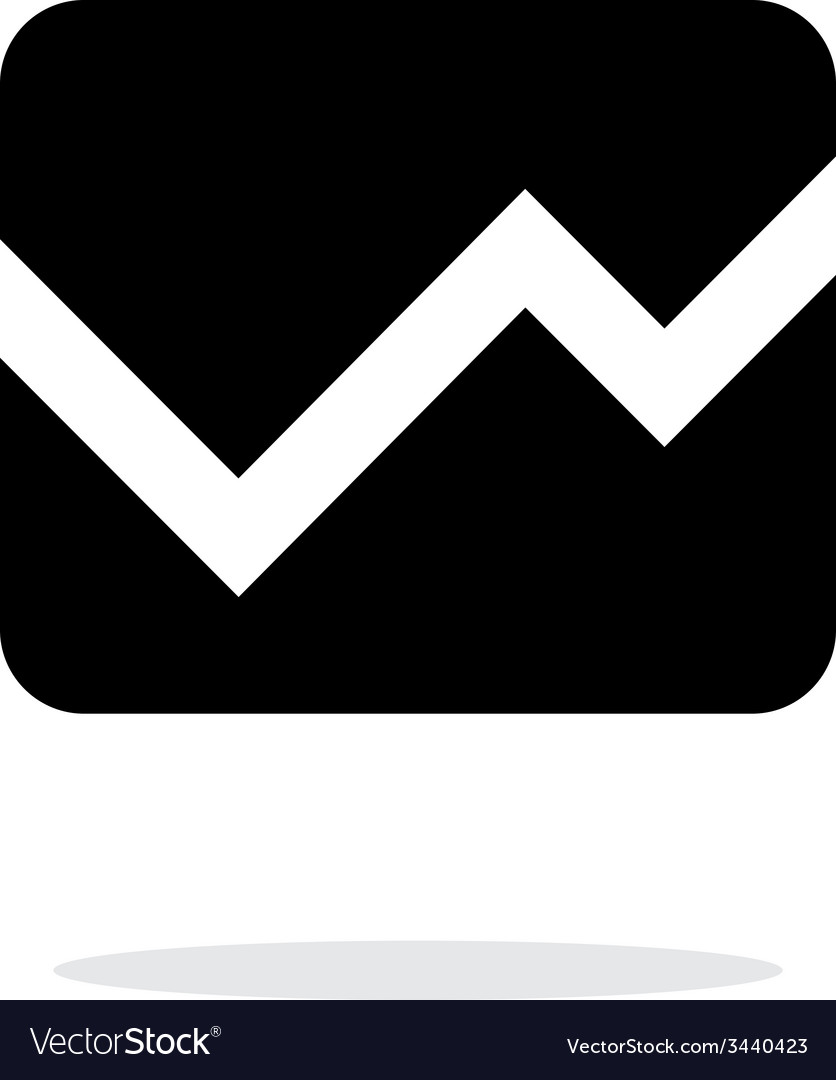 Line chart icon on white background