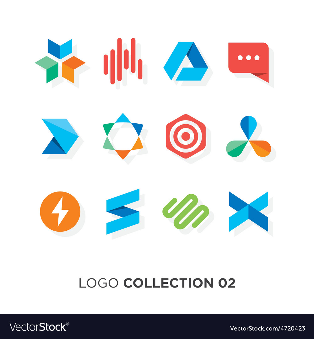 Logo collection 02 vector image