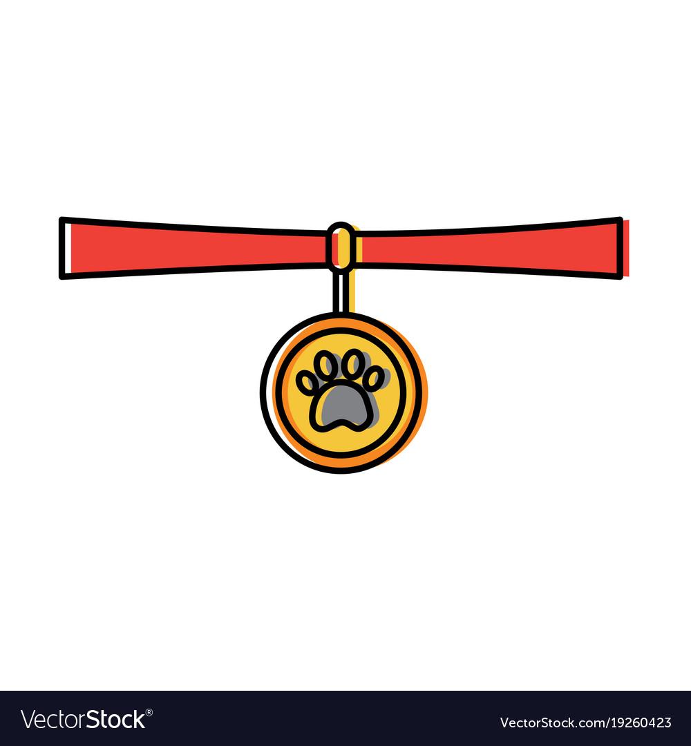 Pet necklace medal identity animal