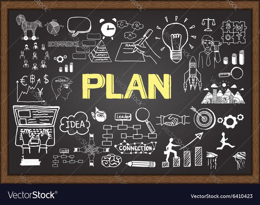 Plan on chalkboard