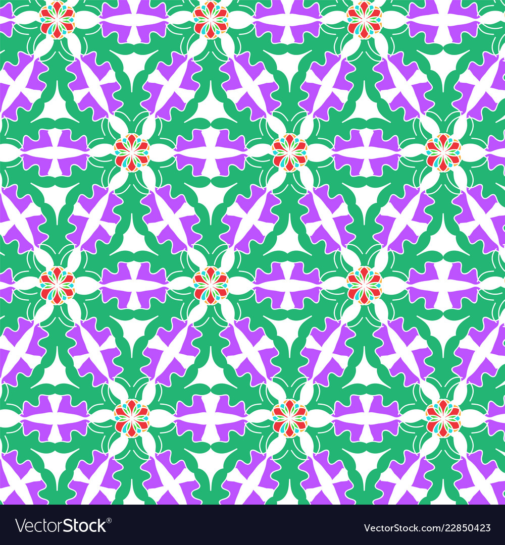 Seamless geometric pattern with modern style