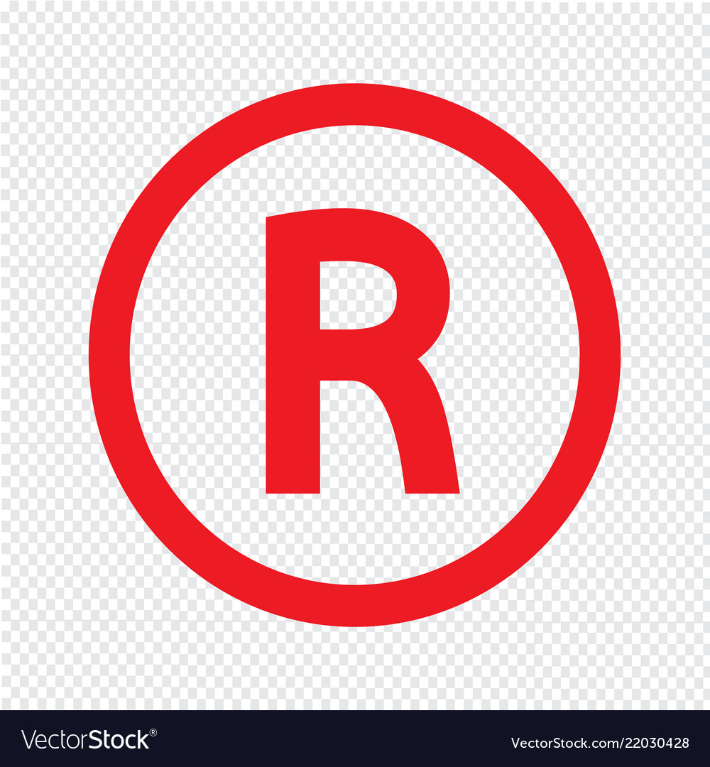 f01b5e56 Basic font letter r icon design Royalty Free Vector Image