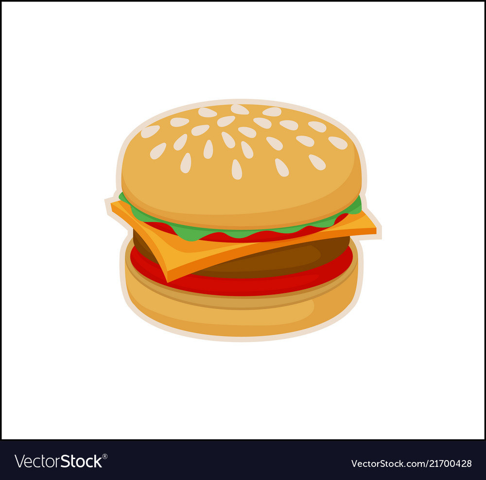 Burger icon template isolated on white background