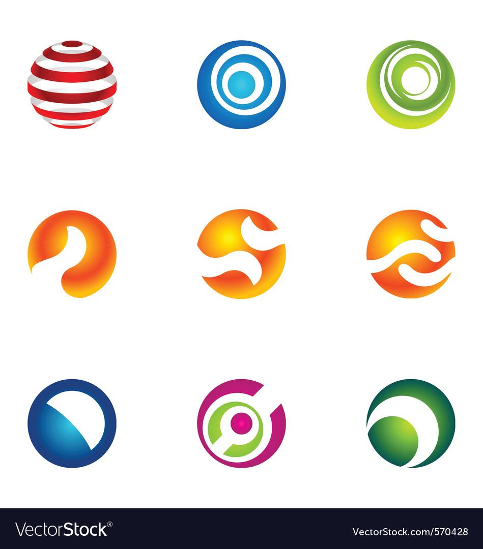 Logo design elements set 70 vector image
