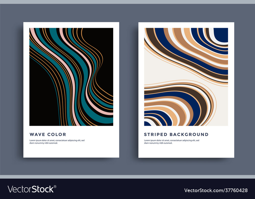 Modern poster design with striped line pattern