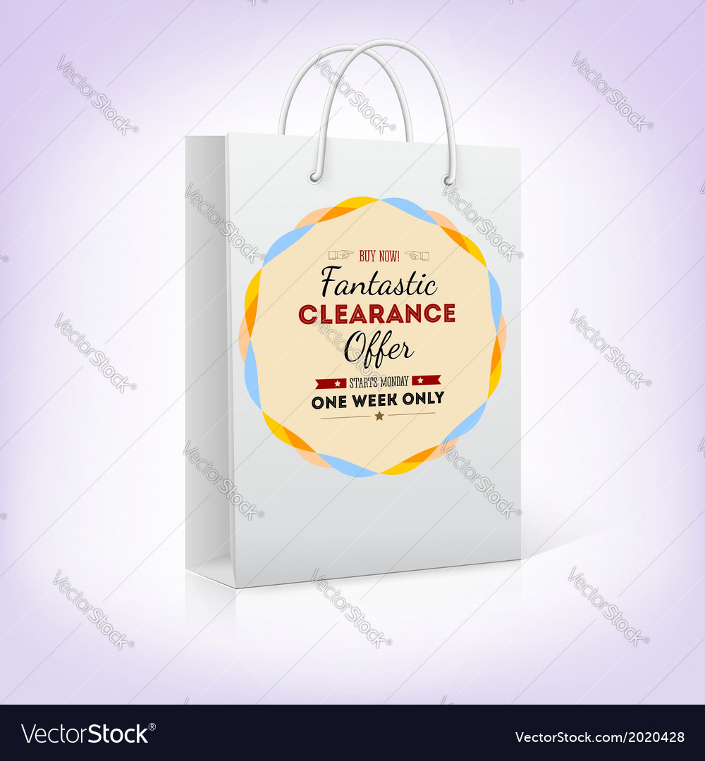 Paper shopping bag with bright pattern fantastic