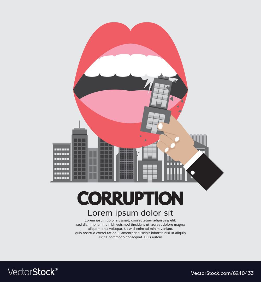 Building Was Eaten Corruption Concept