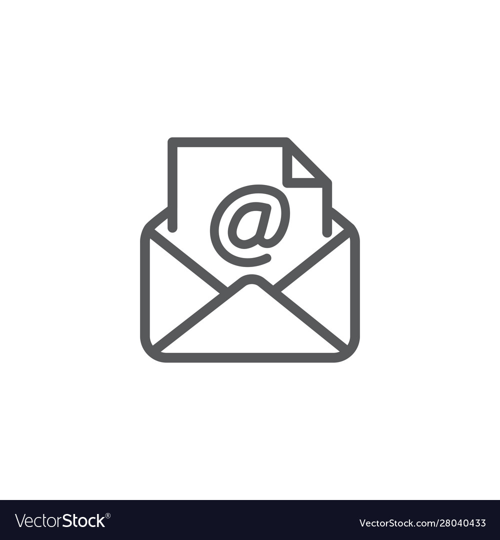 Email icon on white background