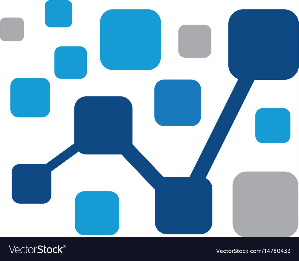 Financial chart square logo image