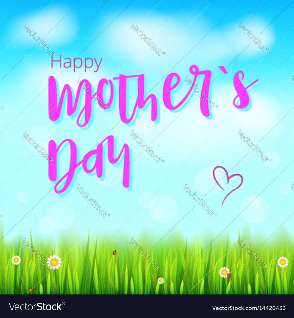 Happy mother day realistic greeting banner for vector image