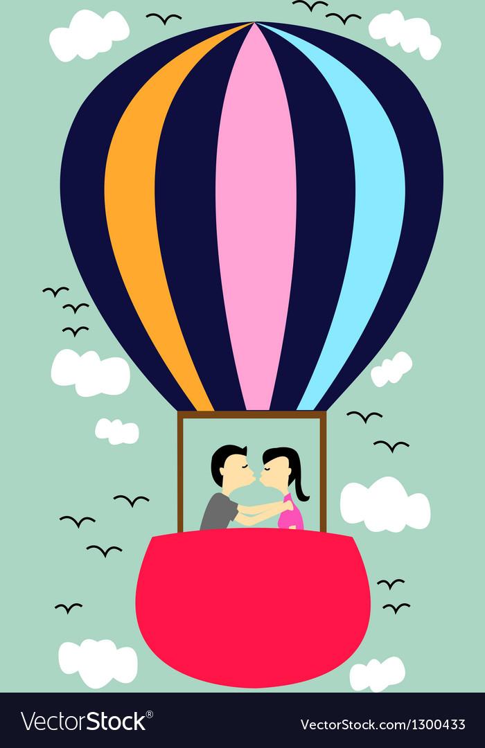Kiss on the balloon