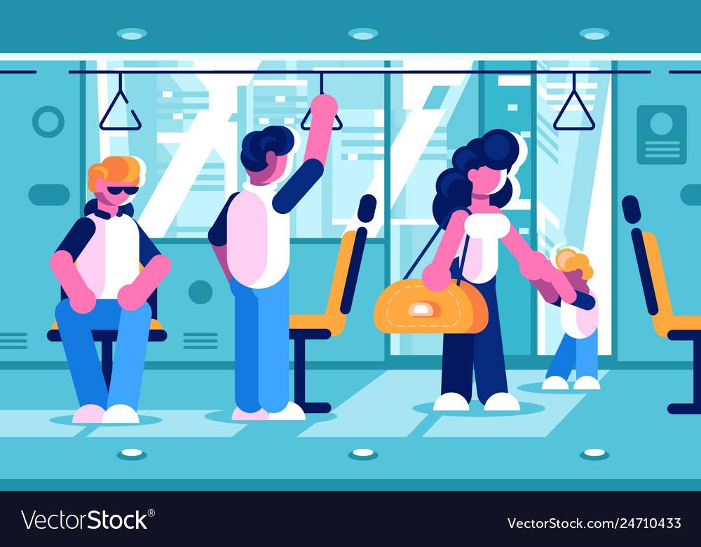 Passengers inside the bus