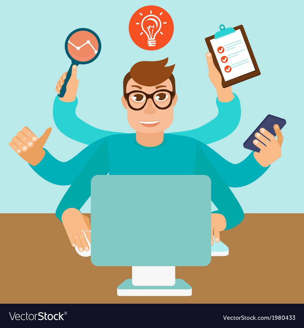 Self employed man vector image