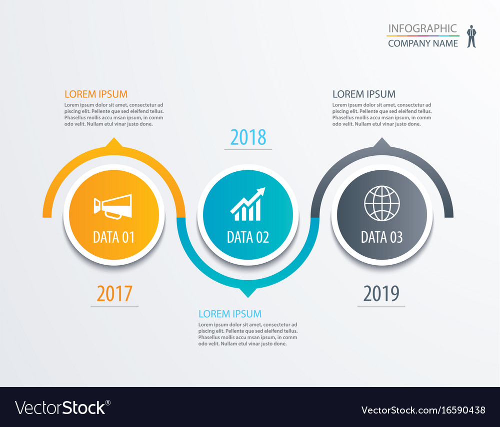 3 circle timeline infographic template business