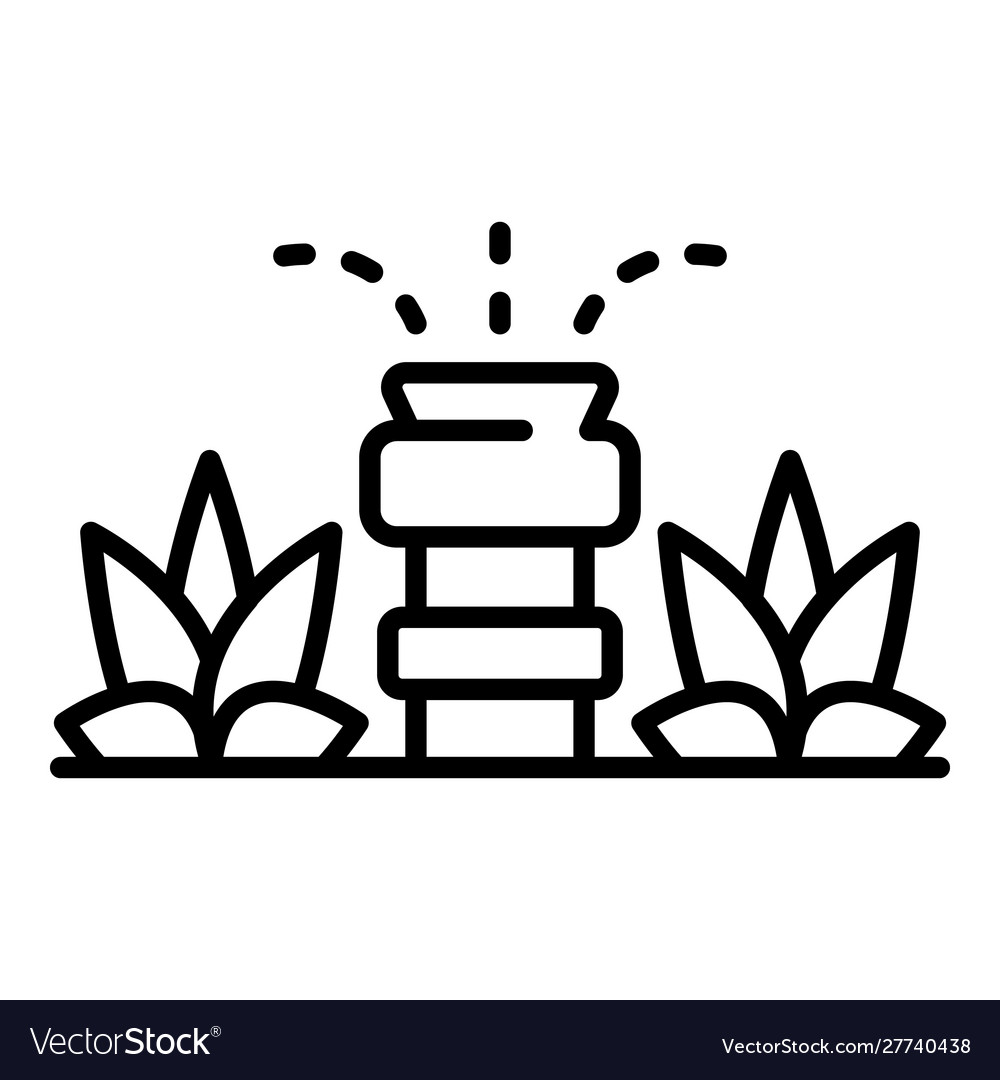 Garden Irrigation Icon Outline Style Royalty Free Vector