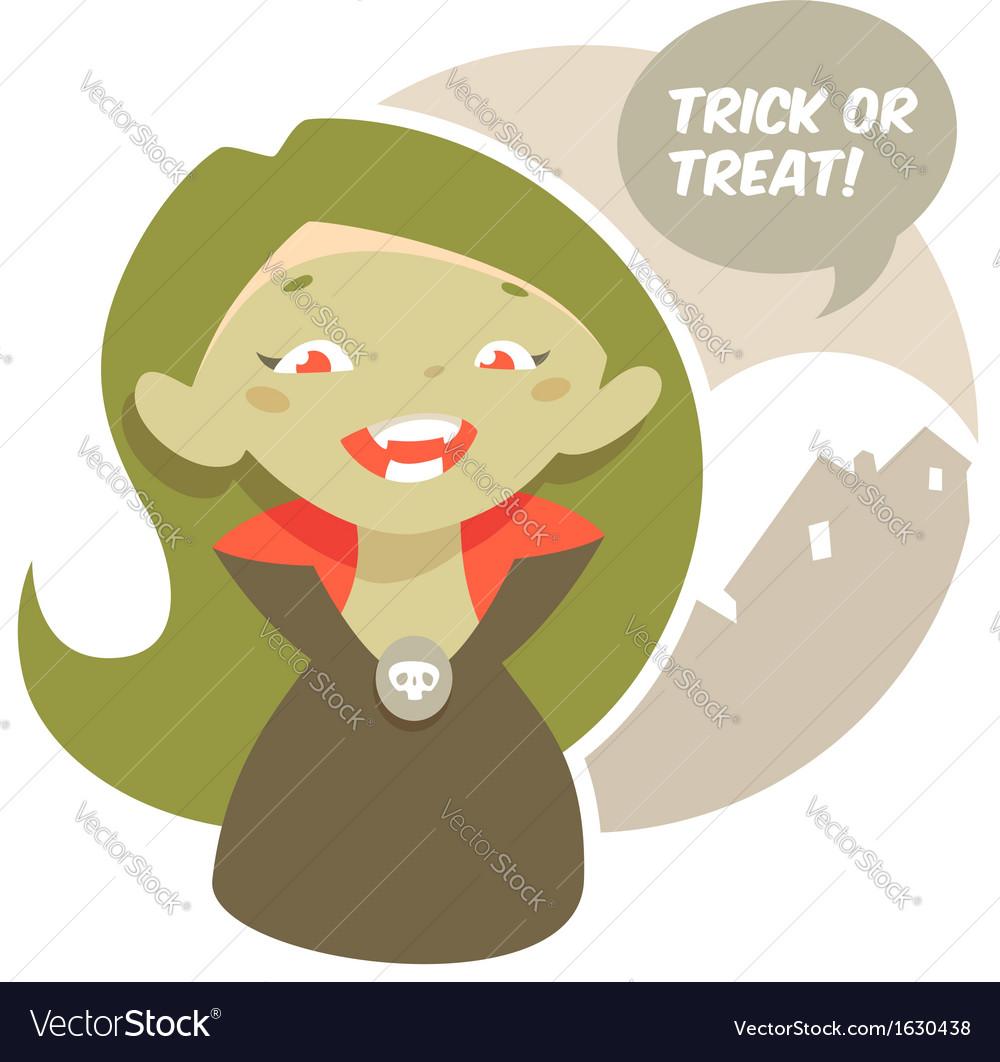 Halloween little vampire