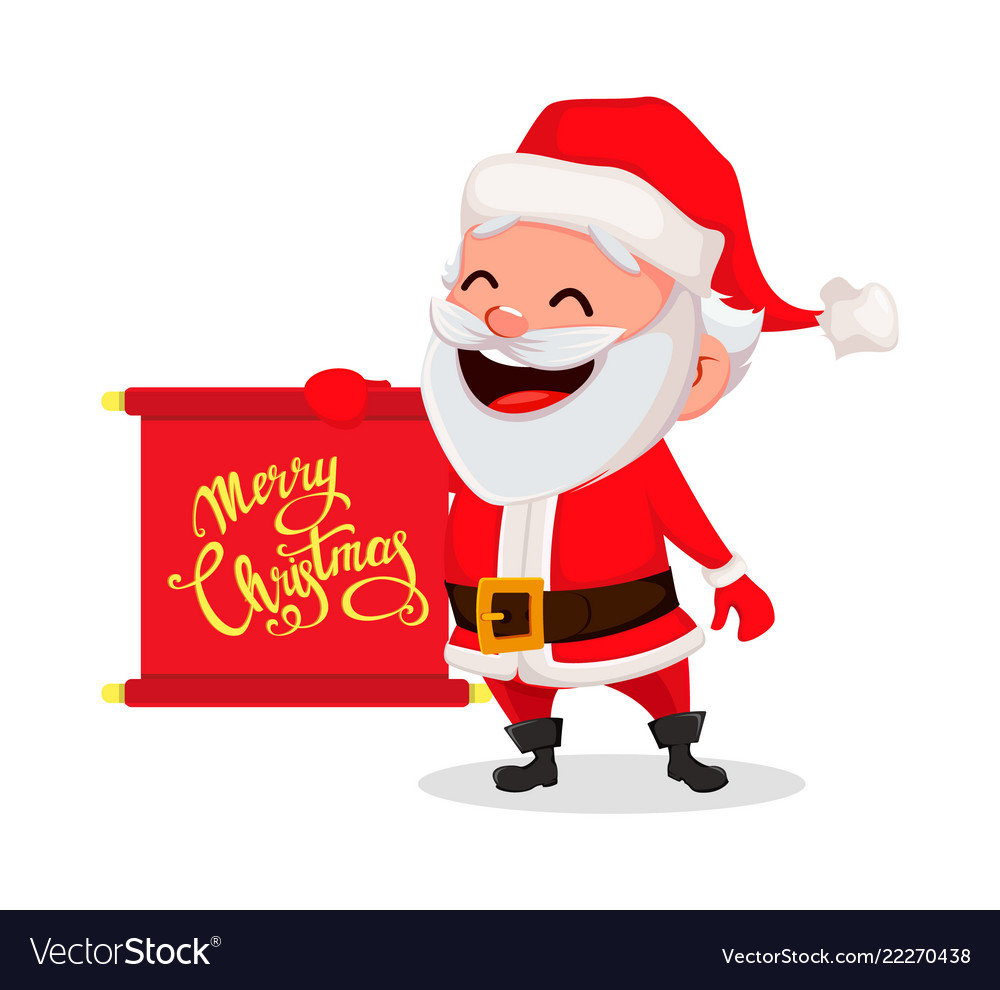 merry christmas funny santa claus vector image - Funny Merry Christmas
