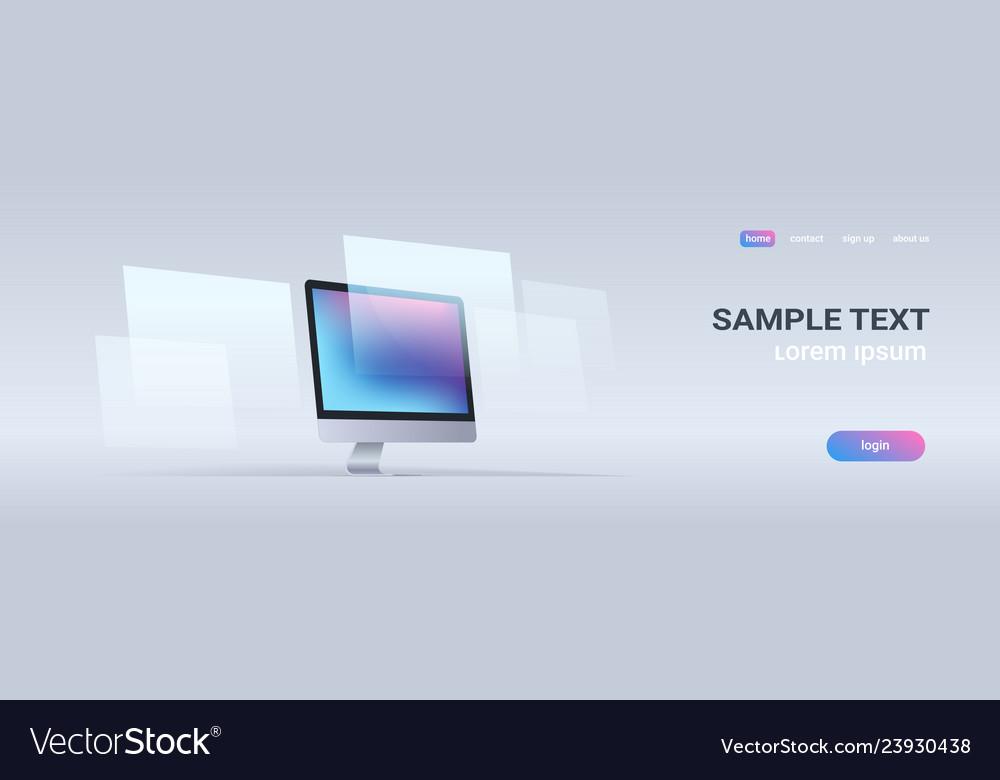 Modern desktop monitor workstation blank computer