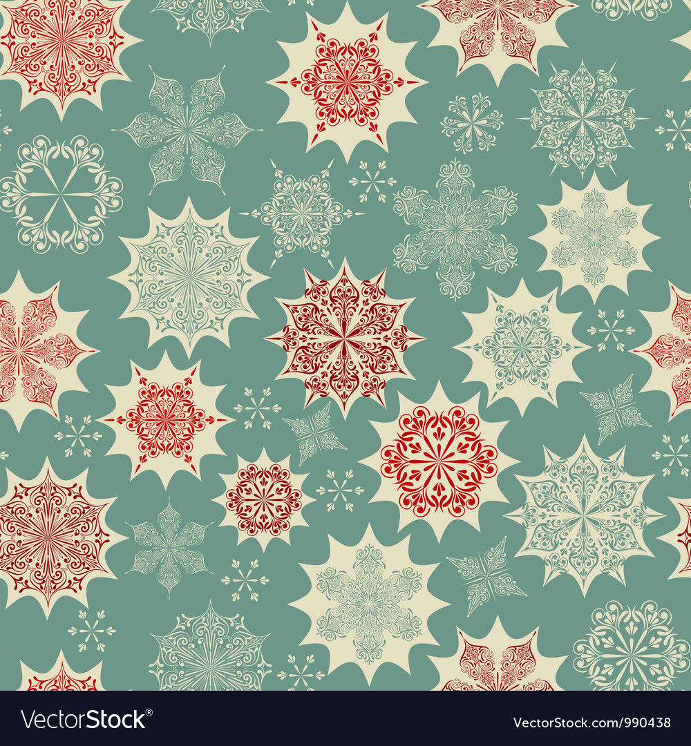 Seamless Winter Pattern with Snowflakes