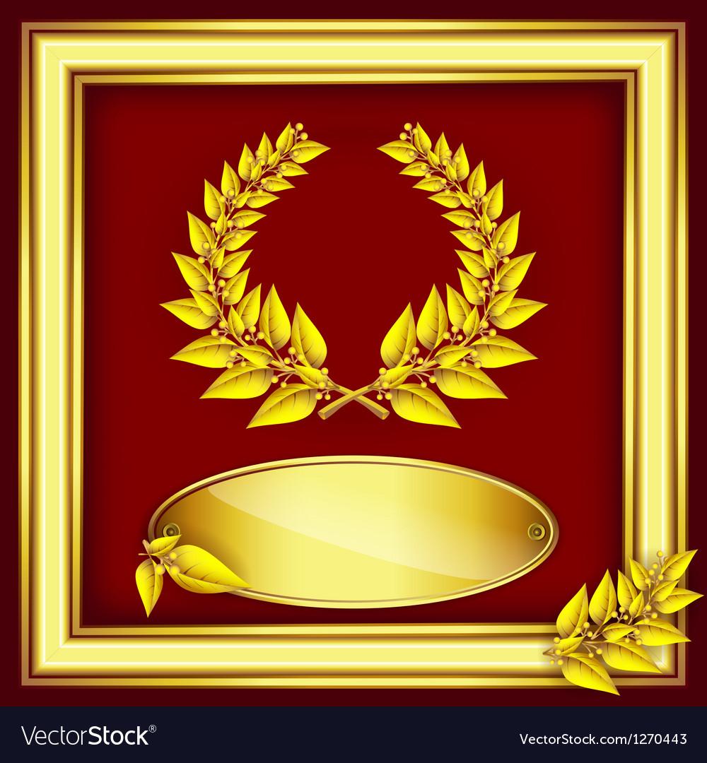 Award or jubilee certificate vector image