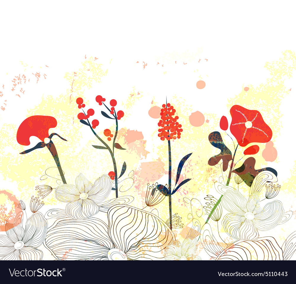 Beautiful Floral Watercolor Background Royalty Free Vector