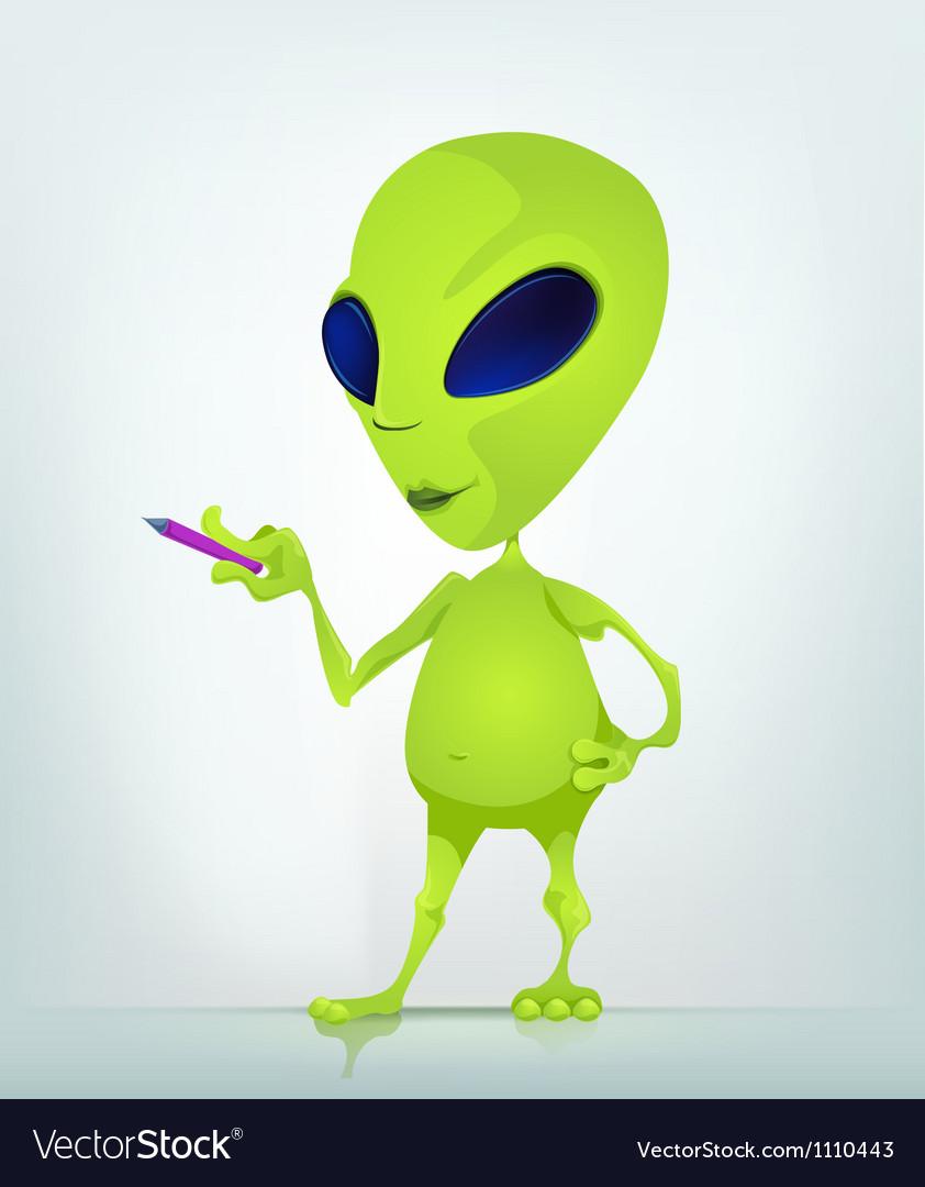 Cartoon Alien teacher