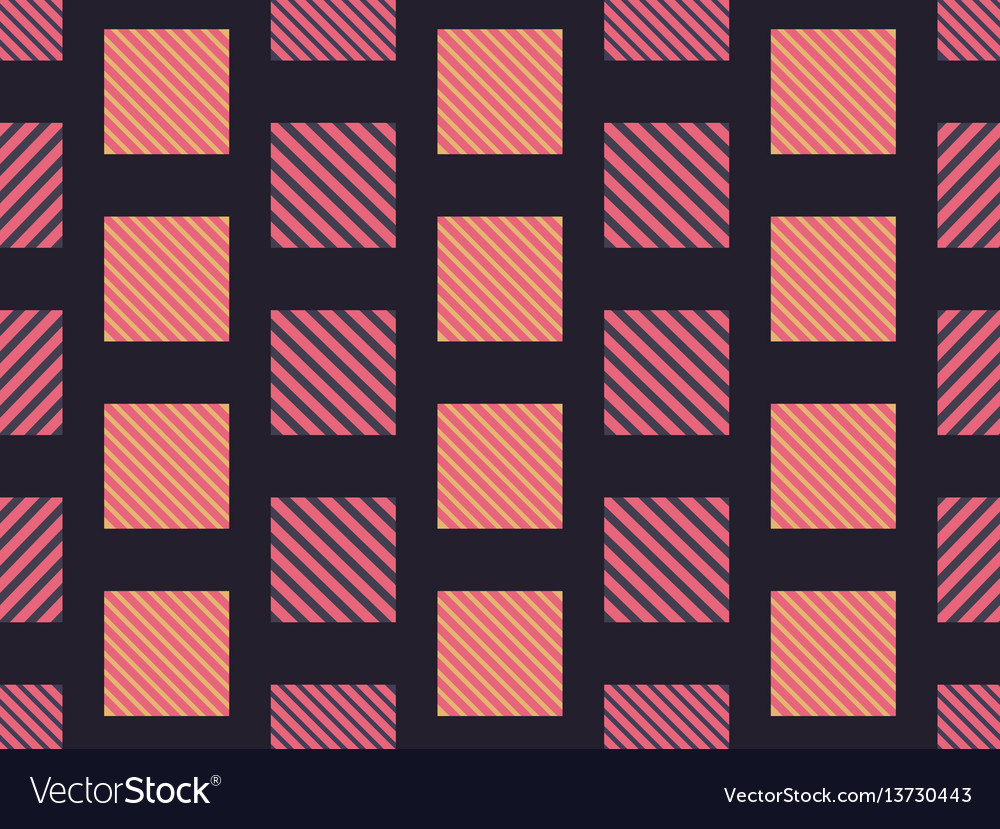 Checkered seamless pattern with diagonal stripes