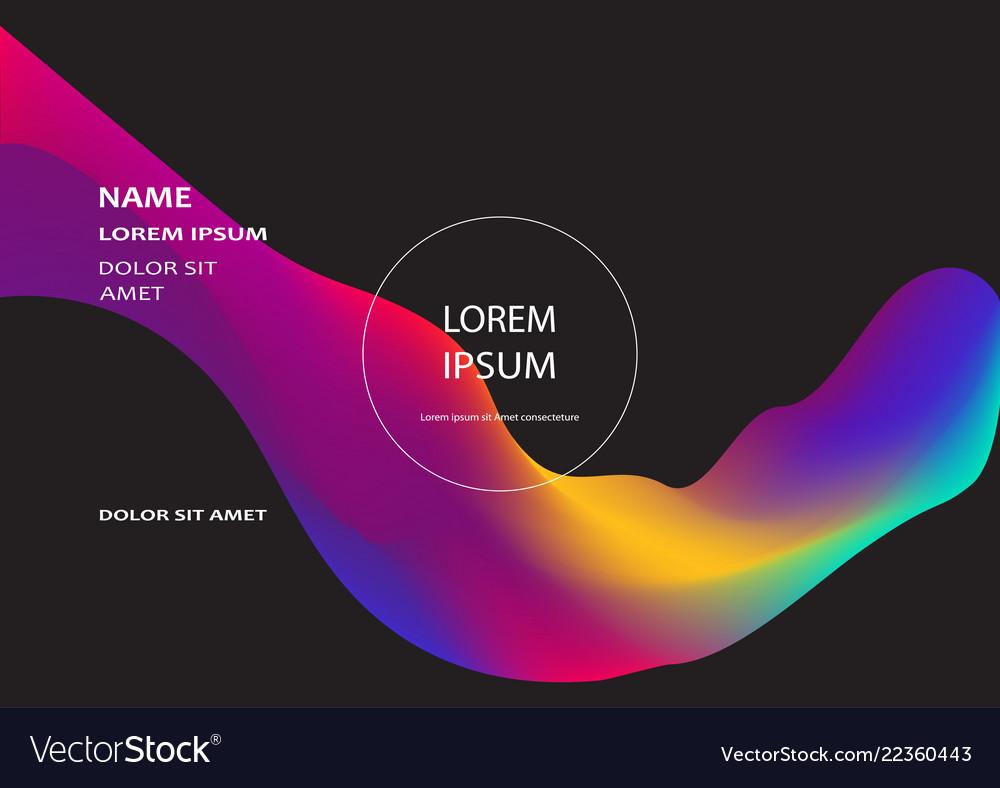 Fluid shapes isolated on black background wavy