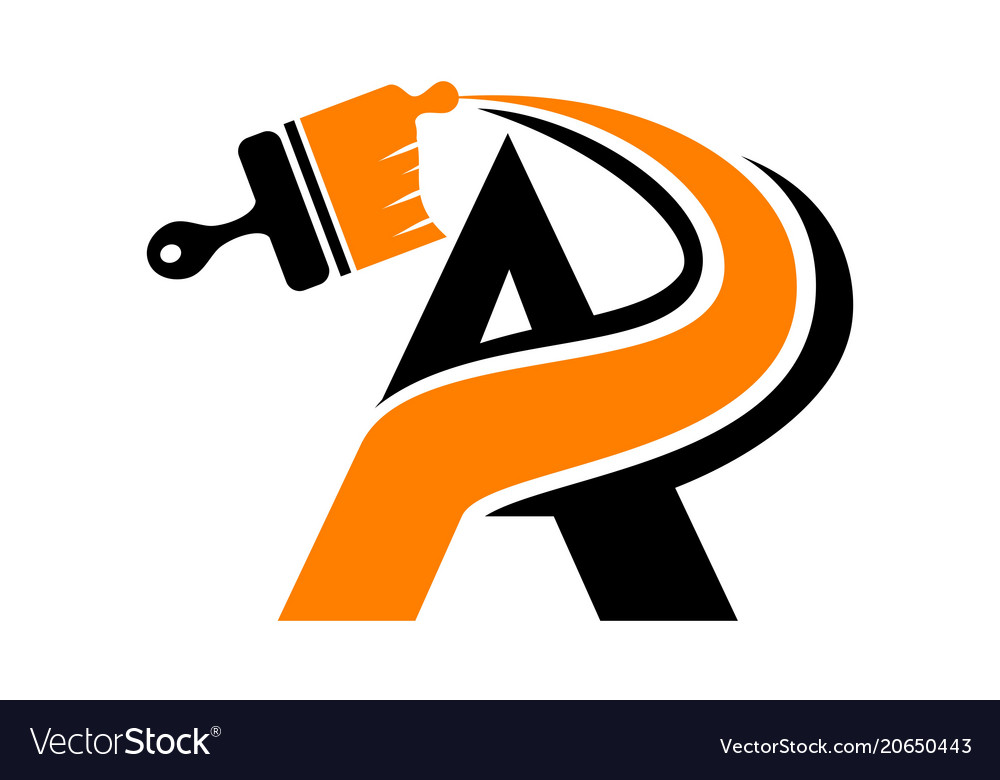 Letter a home brush painting vector image