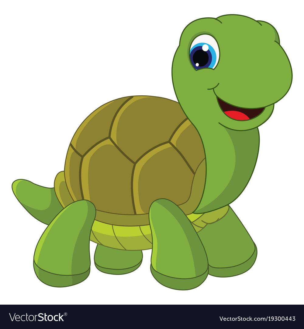 Of cartoon turtle Royalty Free Vector Image - VectorStock