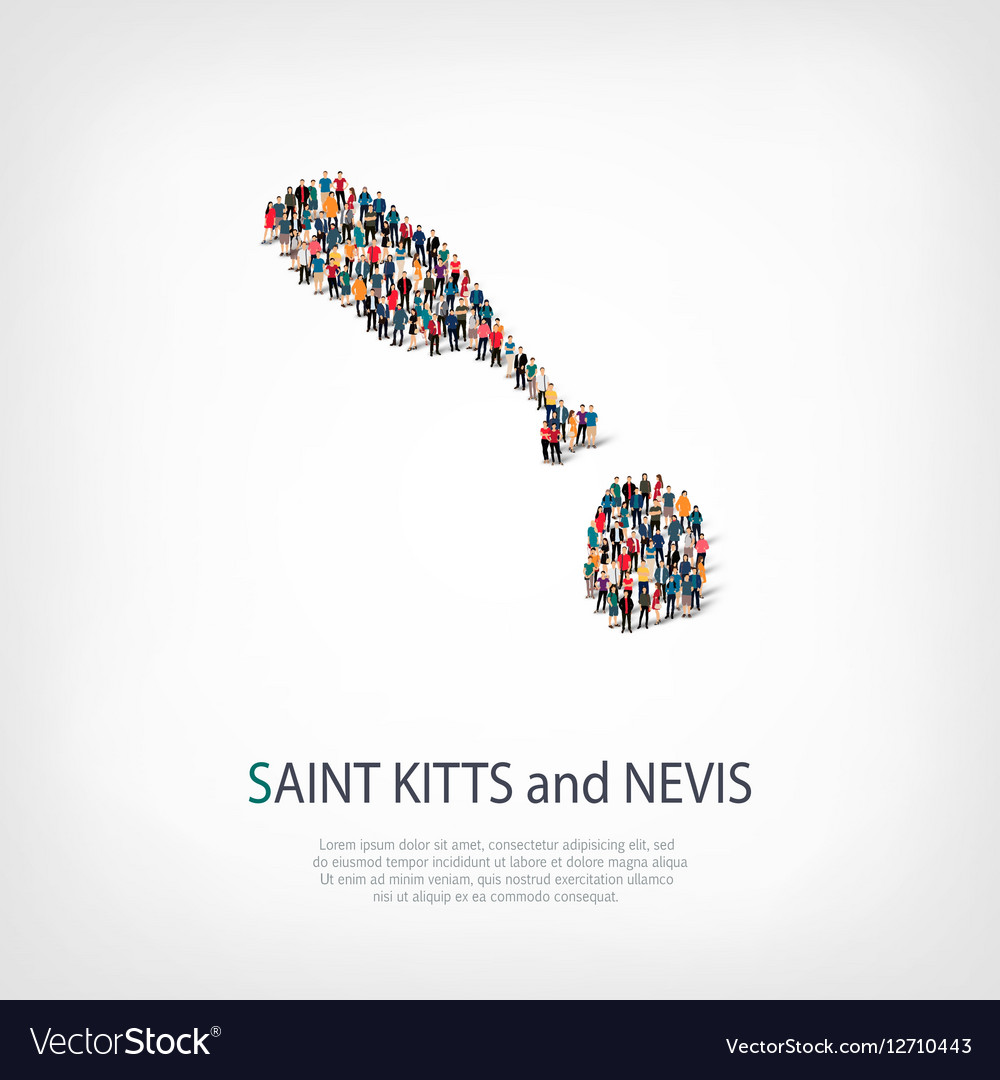 People map country Saint Kitts