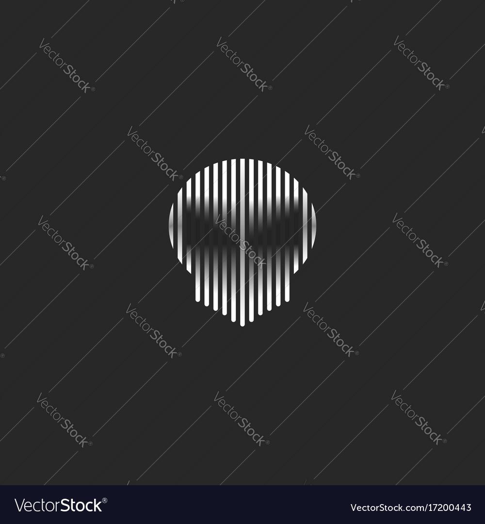 Skull logo striped style grunge