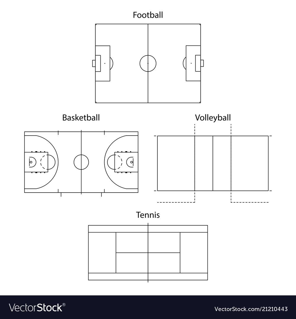 Sport fields outline