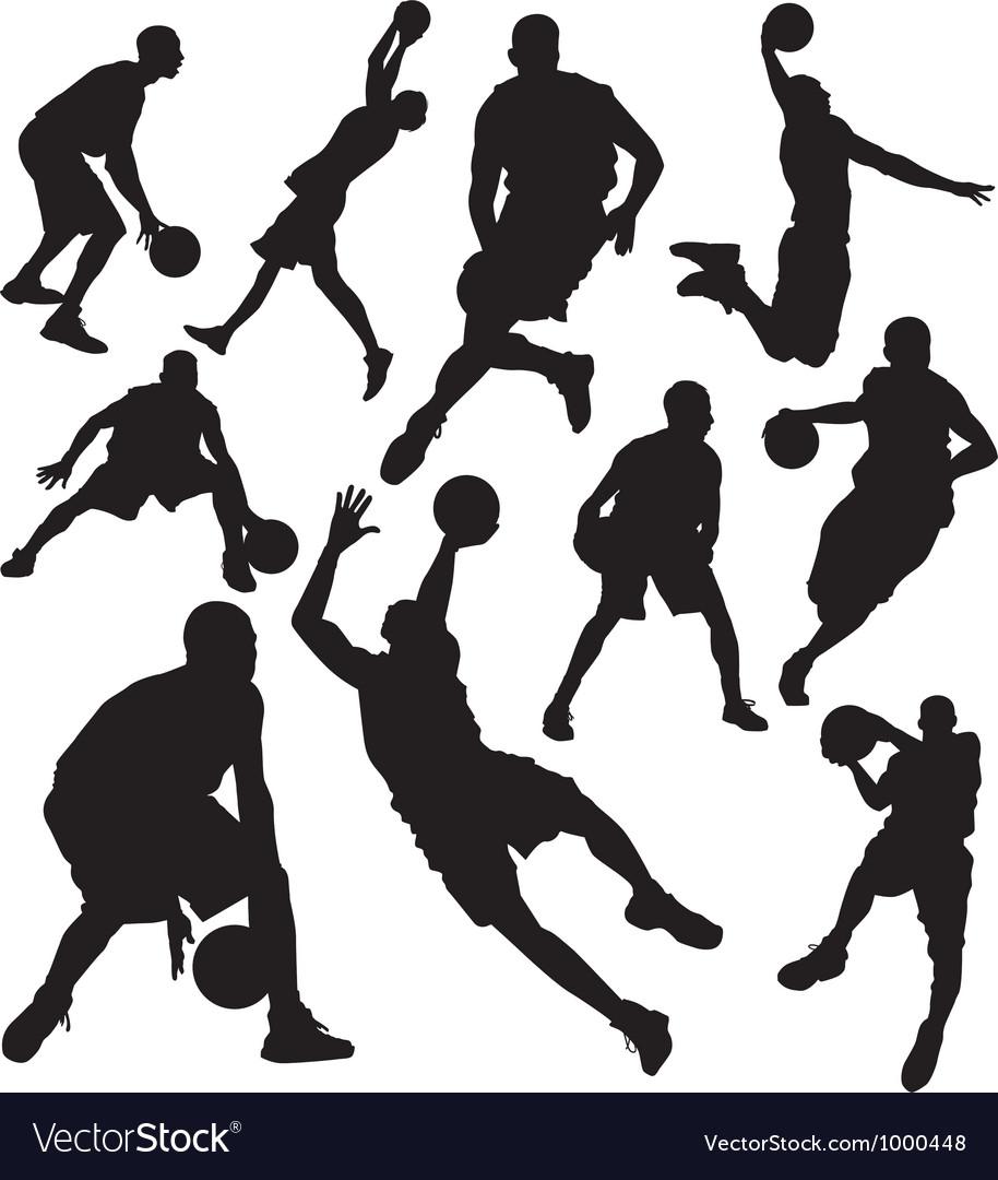 Basketball vs vector image