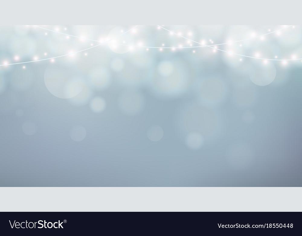 Christmas lights xmas garland decoration grey vector image