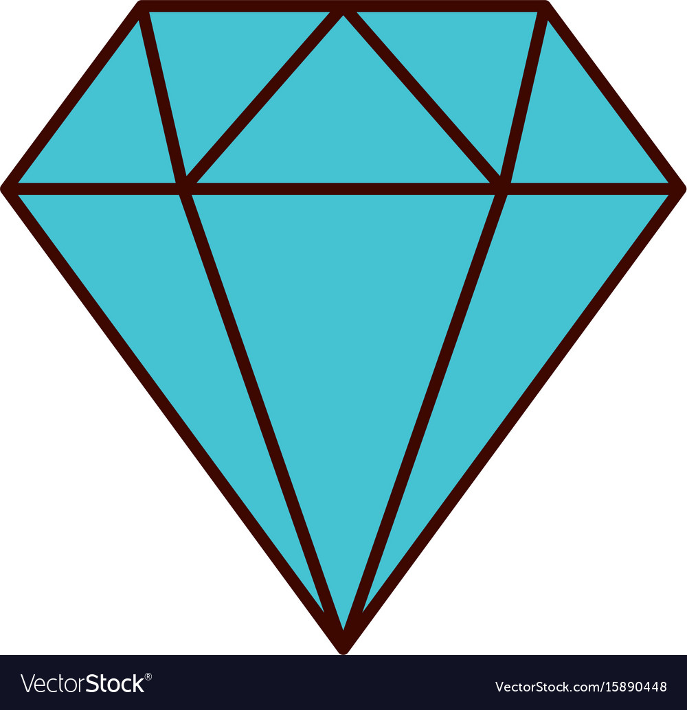 diamond figure isolated icon royalty free vector image rh vectorstock com diamond vector free download diamond vector pattern