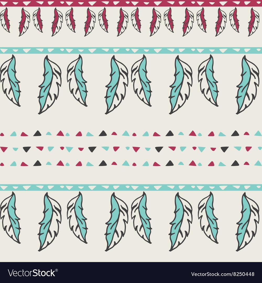 Hand drawn geometric ethnic seamless pattern