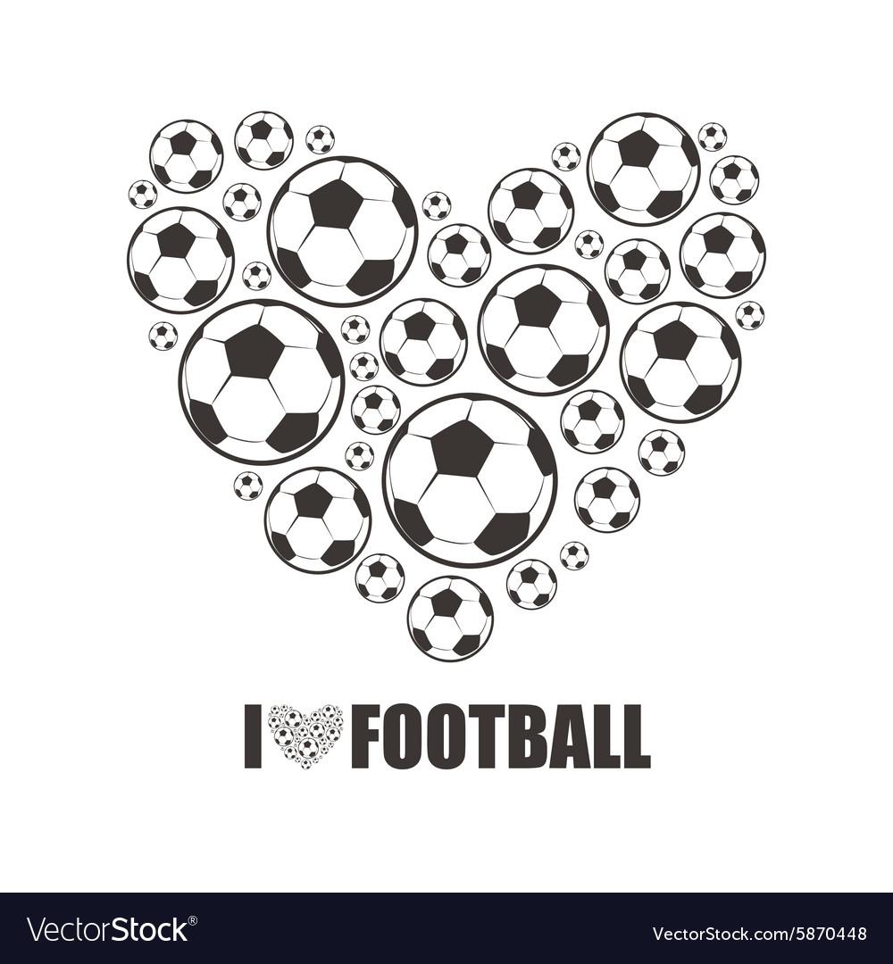 Heart from the footballs I love Football