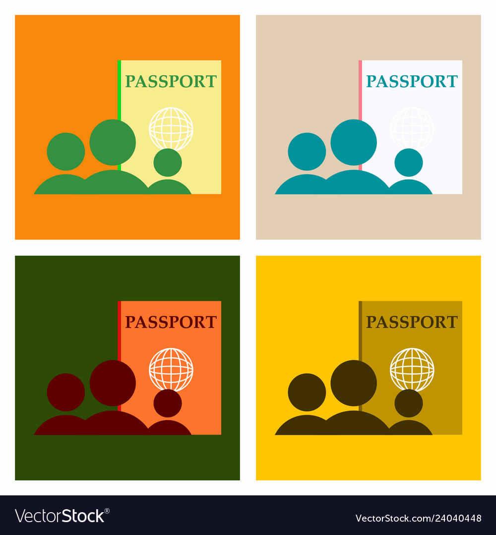 International passport template with sample