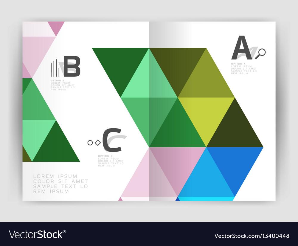 Modern business brochure or leaflet a4 cover