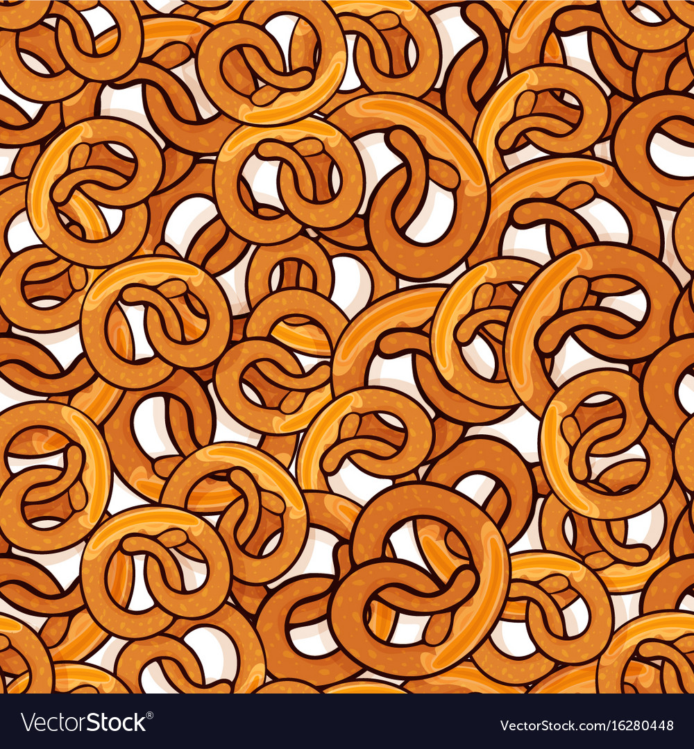 Pattern with many delicious pretzels