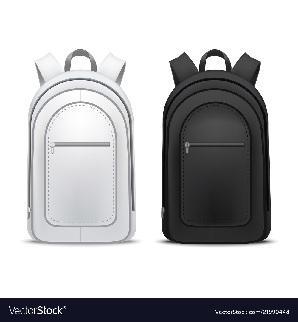 Realistic detailed 3d white and black blank school