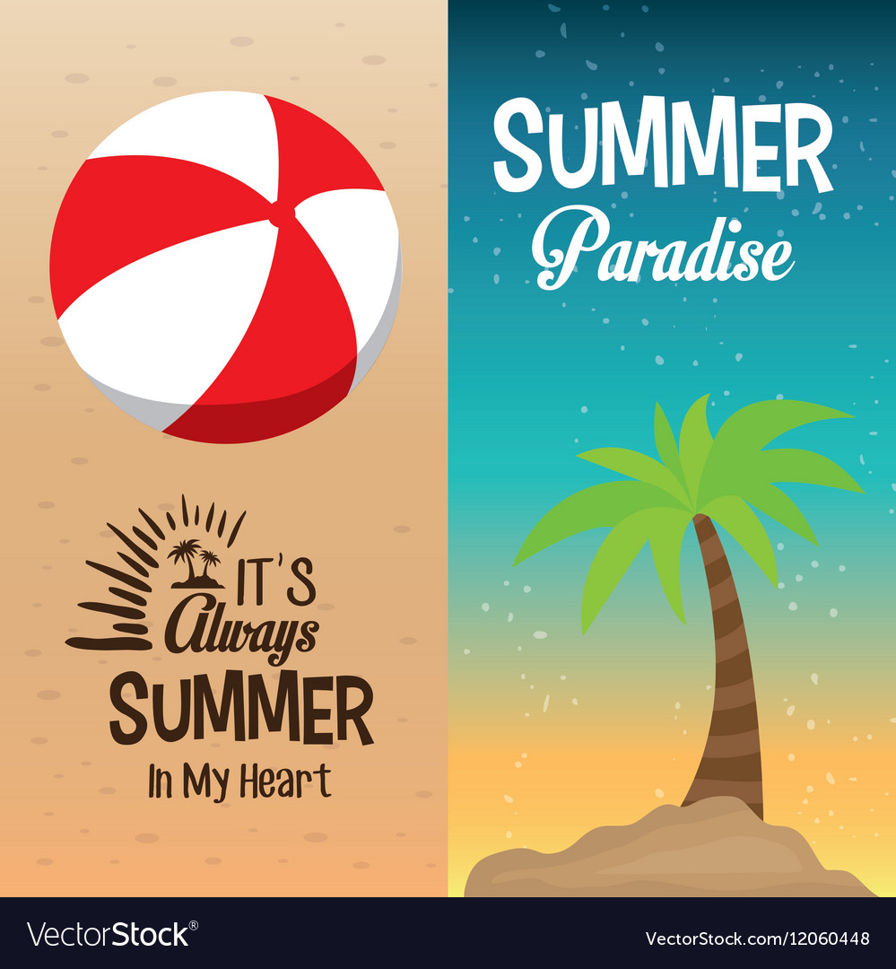 Two flyers summer paradise palm and its always in