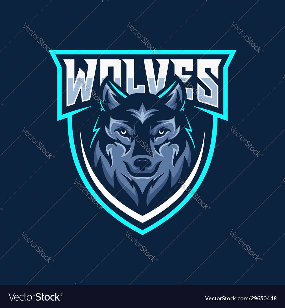 Wild wolf esport mascot logo design
