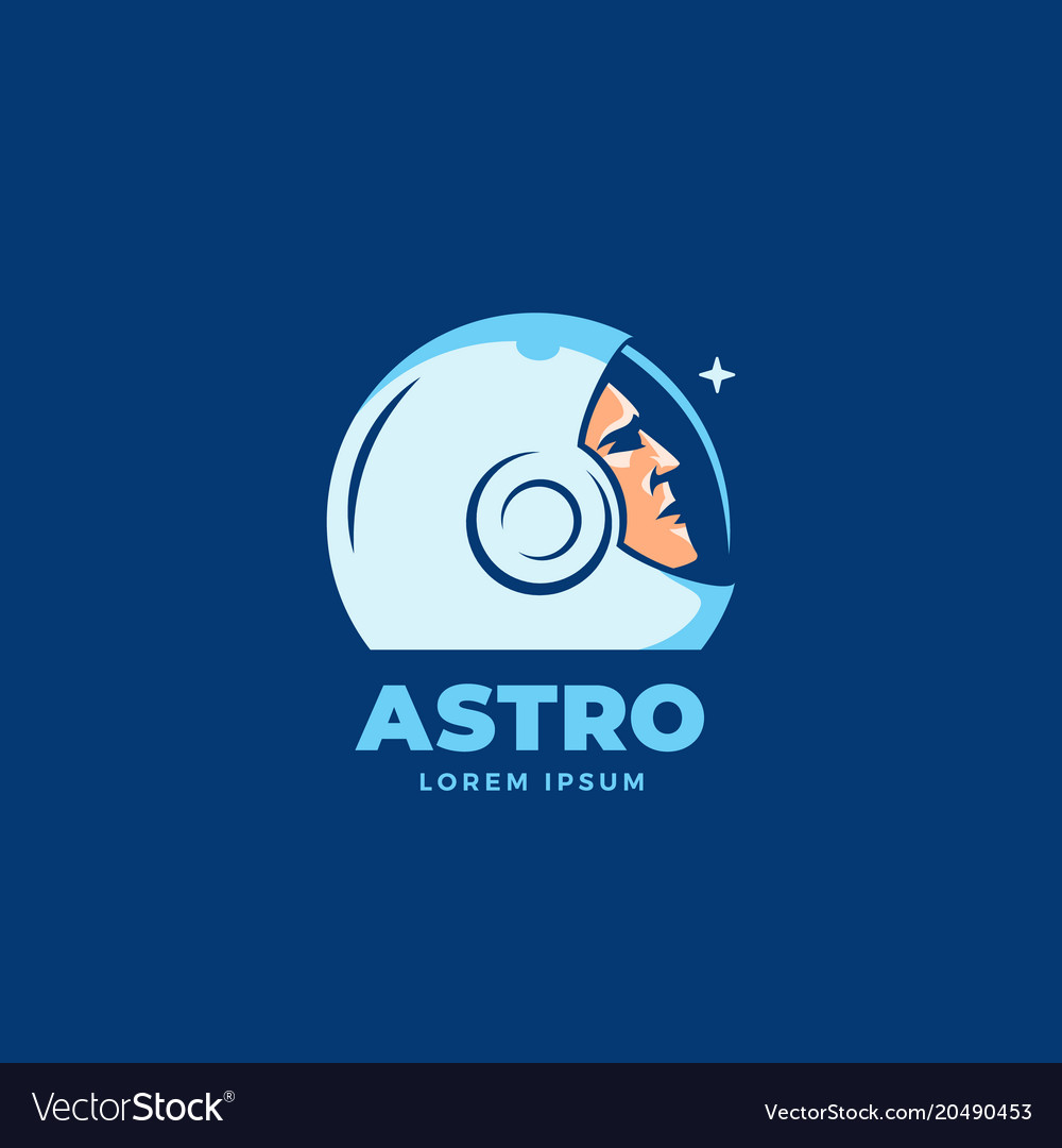 Astro abstract sign emblem icon or logo