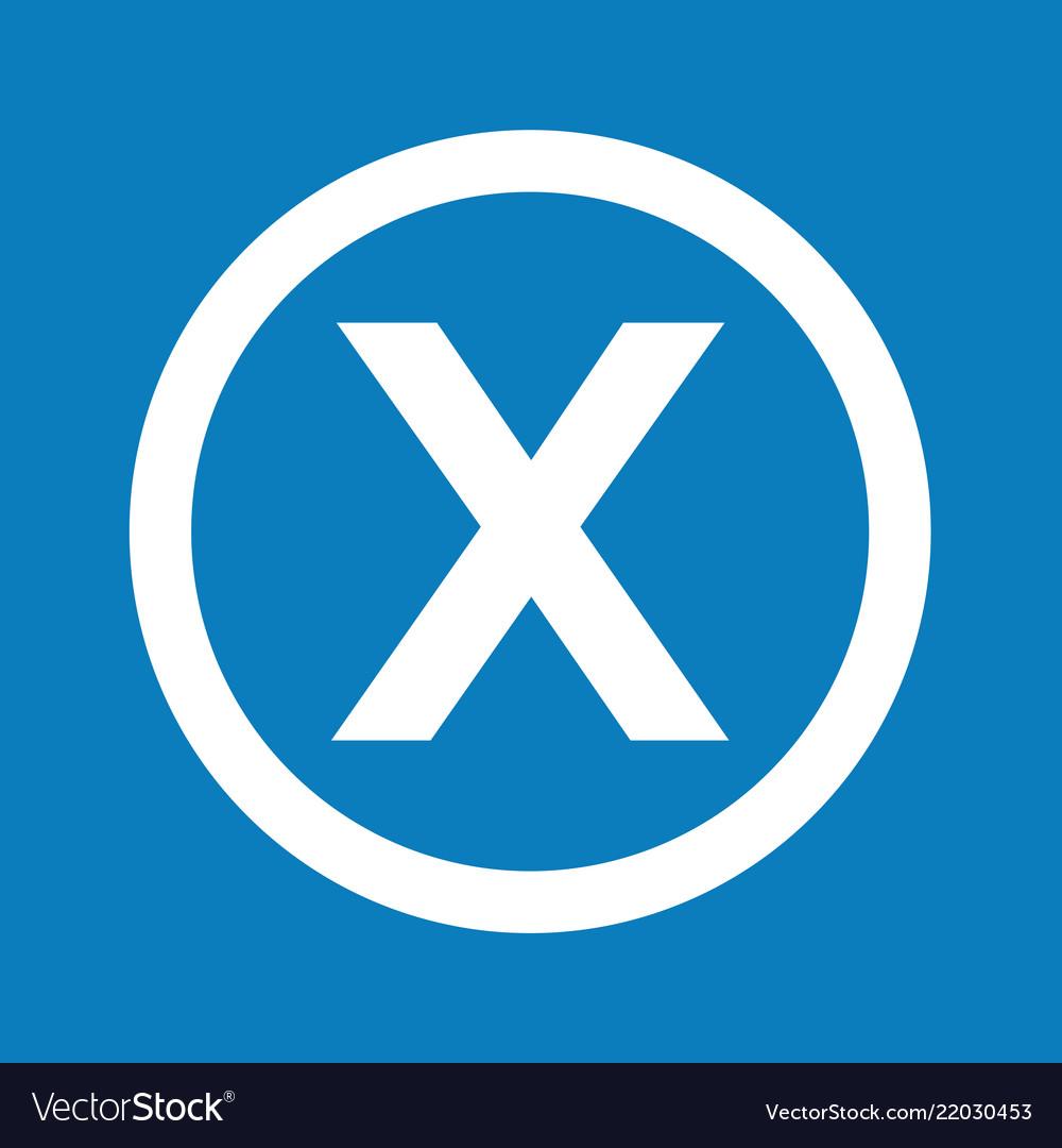 Basic font letter x icon design