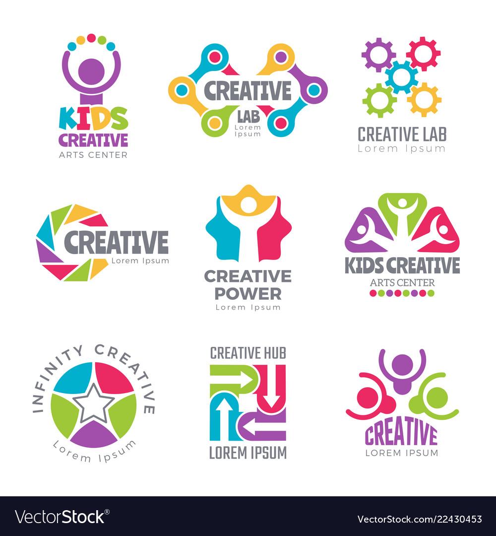 Creative logo templates colorful abstract