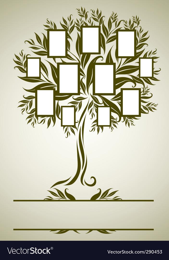 family tree royalty free vector image vectorstock rh vectorstock com family tree vector art free download family tree vector art