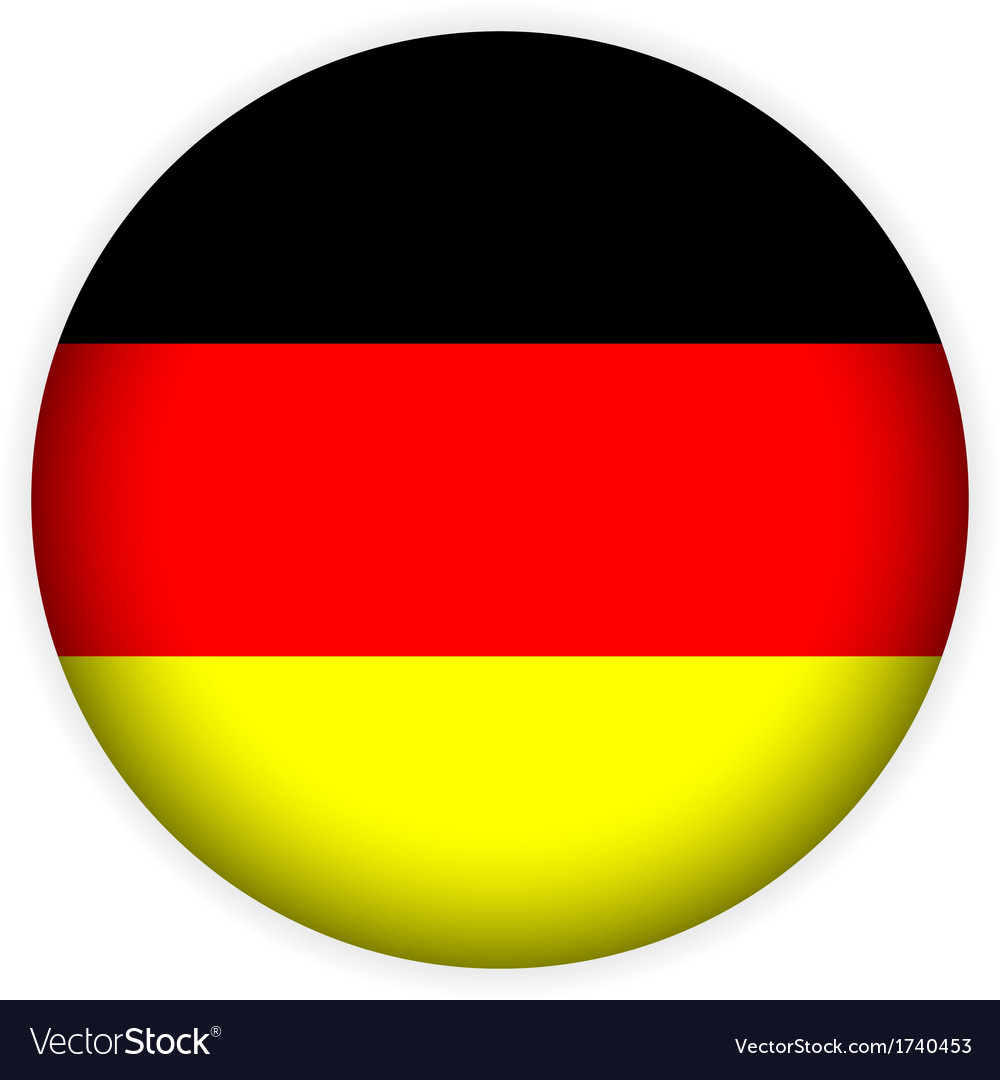 german flag button royalty free vector image vectorstock