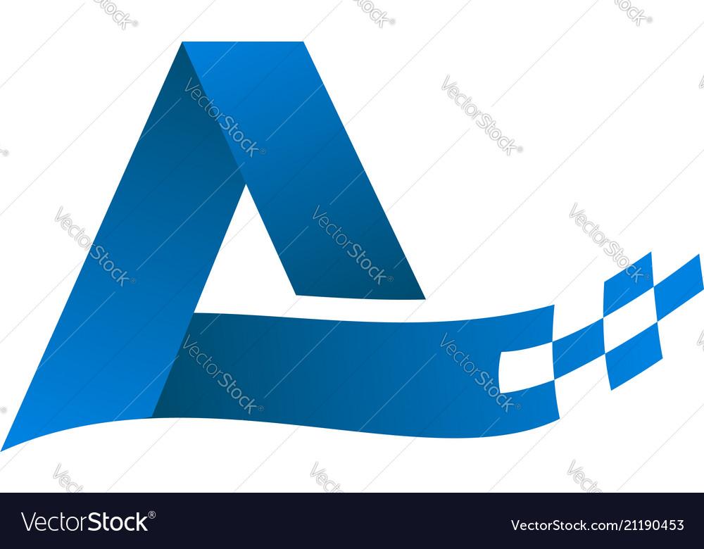 Letter a logo technology internet logo design